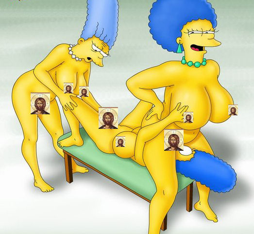 Marge sisters porn lesbian and simpsons
